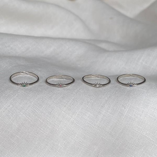 - B Göz Figürlü Yüzük | 925 Gümüş