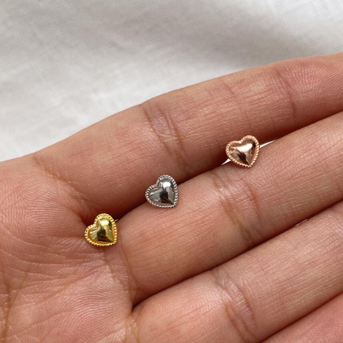 Çerçeveli Kalp Piercing | 925 Gümüş