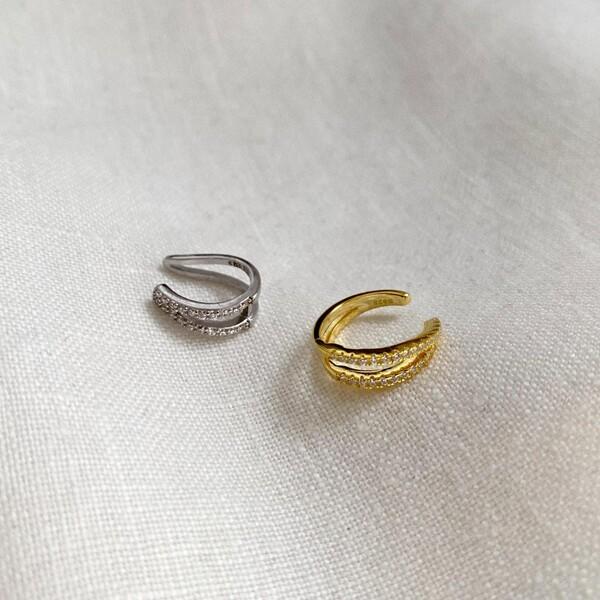 Fi Season - Çift Taşlı Ear Cuff | 925 Gümüş