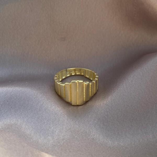 - Çoklu Dikdörtgen Şeklilli Yüzük   925 Gümüş