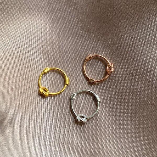 Fi Season - Düğüm Figürlü Halka Küpe | 925 Gümüş