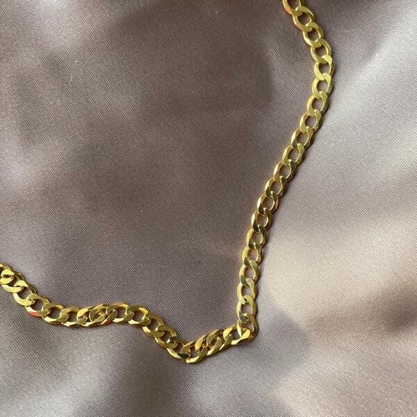 Fi Season - Düz Zincir Kolye   925 Gümüş
