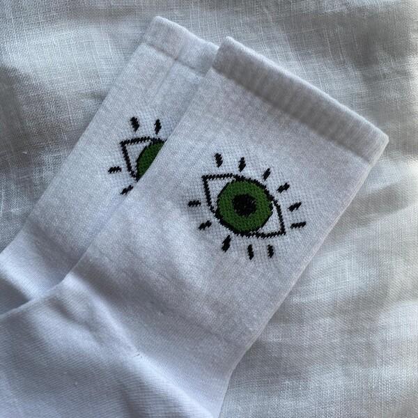 - Göz Figürlü Çorap