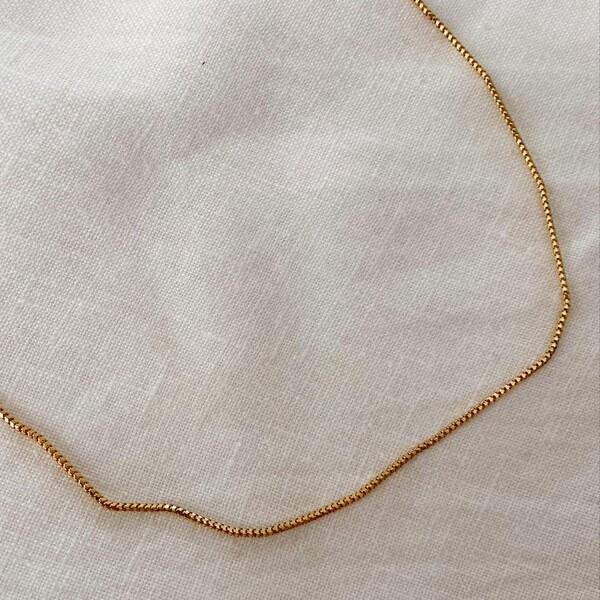 Fi Season - İnce Boru Zincir Kolye   925 Gümüş