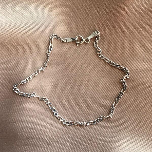 Fi Season - İnce Vintage Bileklik   925 Gümüş