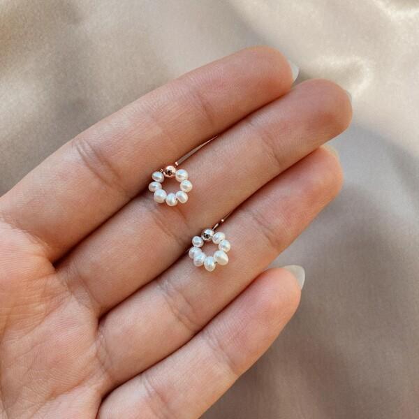- İncili Halka Piercing | 925 Gümüş