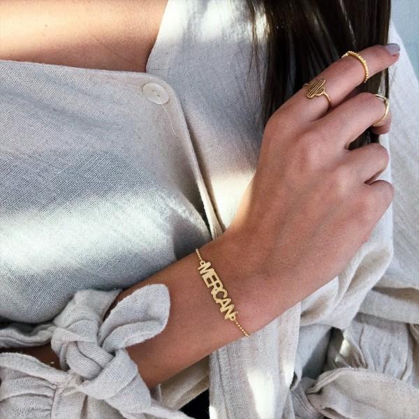 - İsim Bileklik | 925 Gümüş
