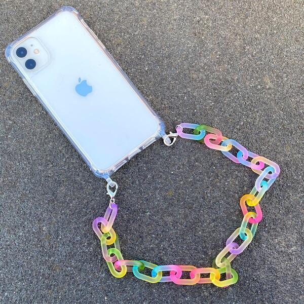 Fi Season - Kalın Akrilik Zincirli Telefon Kabı ve Askısı