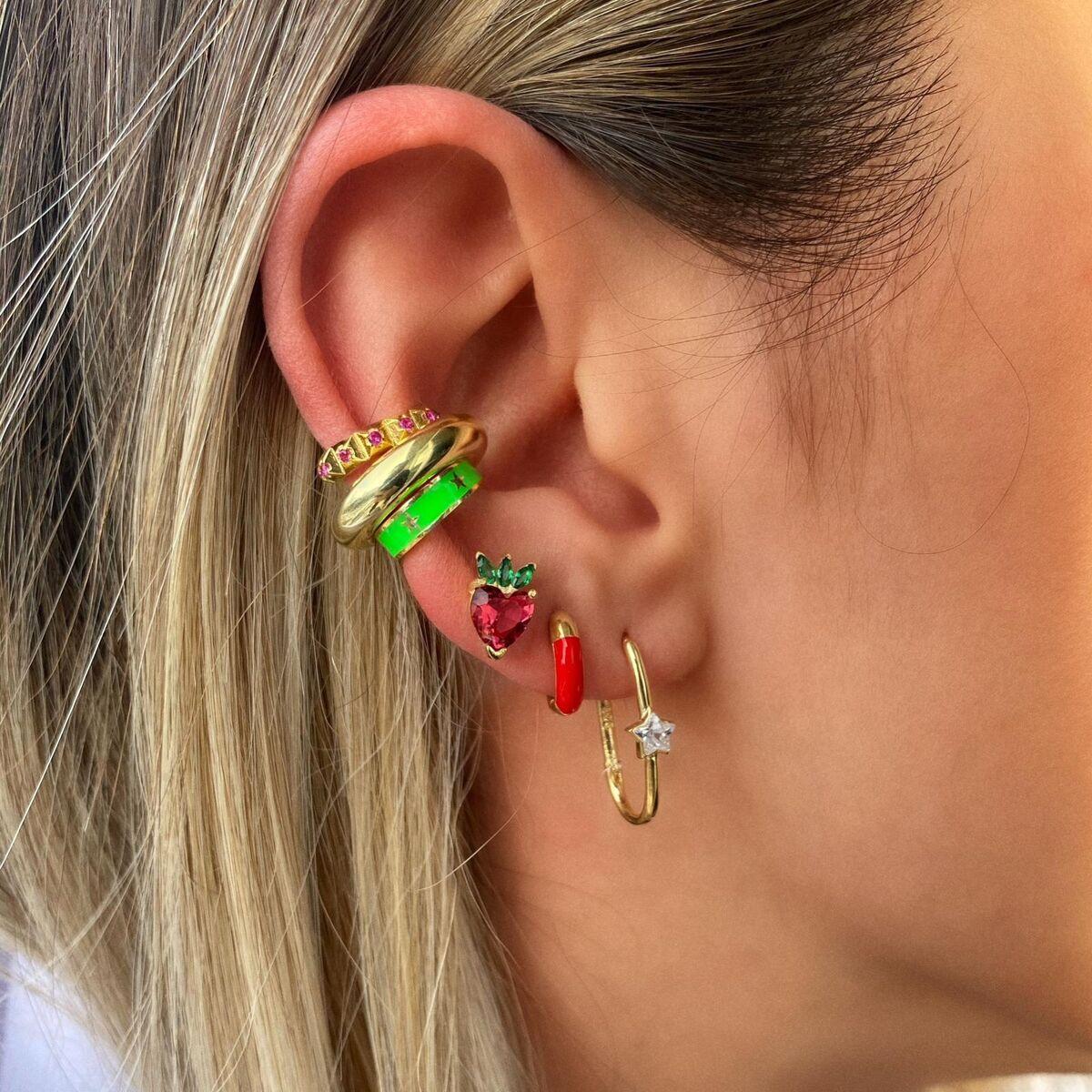 Kalın Halka Ear Cuff | 925 Gümüş