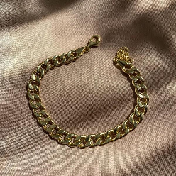 - 0.8 Kalın Zincirli Halhal | 925 Gümüş
