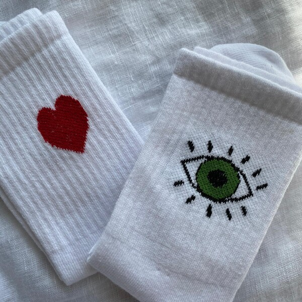 - Kalpli Gözlü İkili Çorap Seti