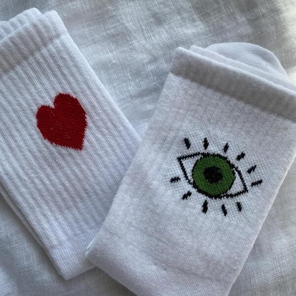 Fi Season - Kalpli Gözlü İkili Çorap Seti
