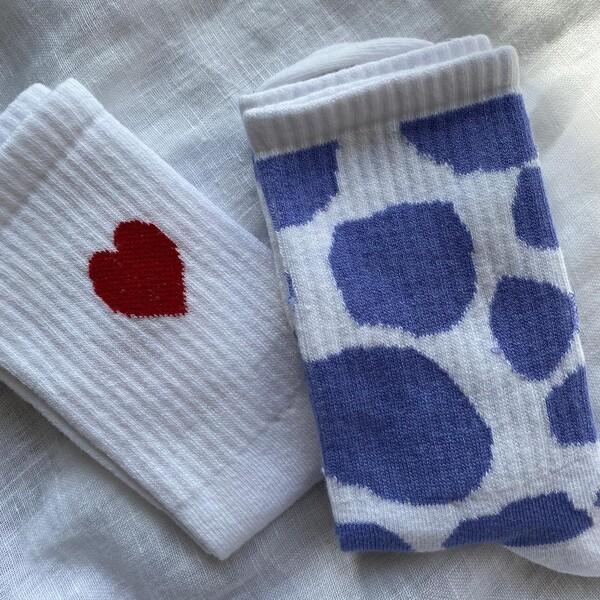 - Kalpli İnek Desenli Çorap Seti