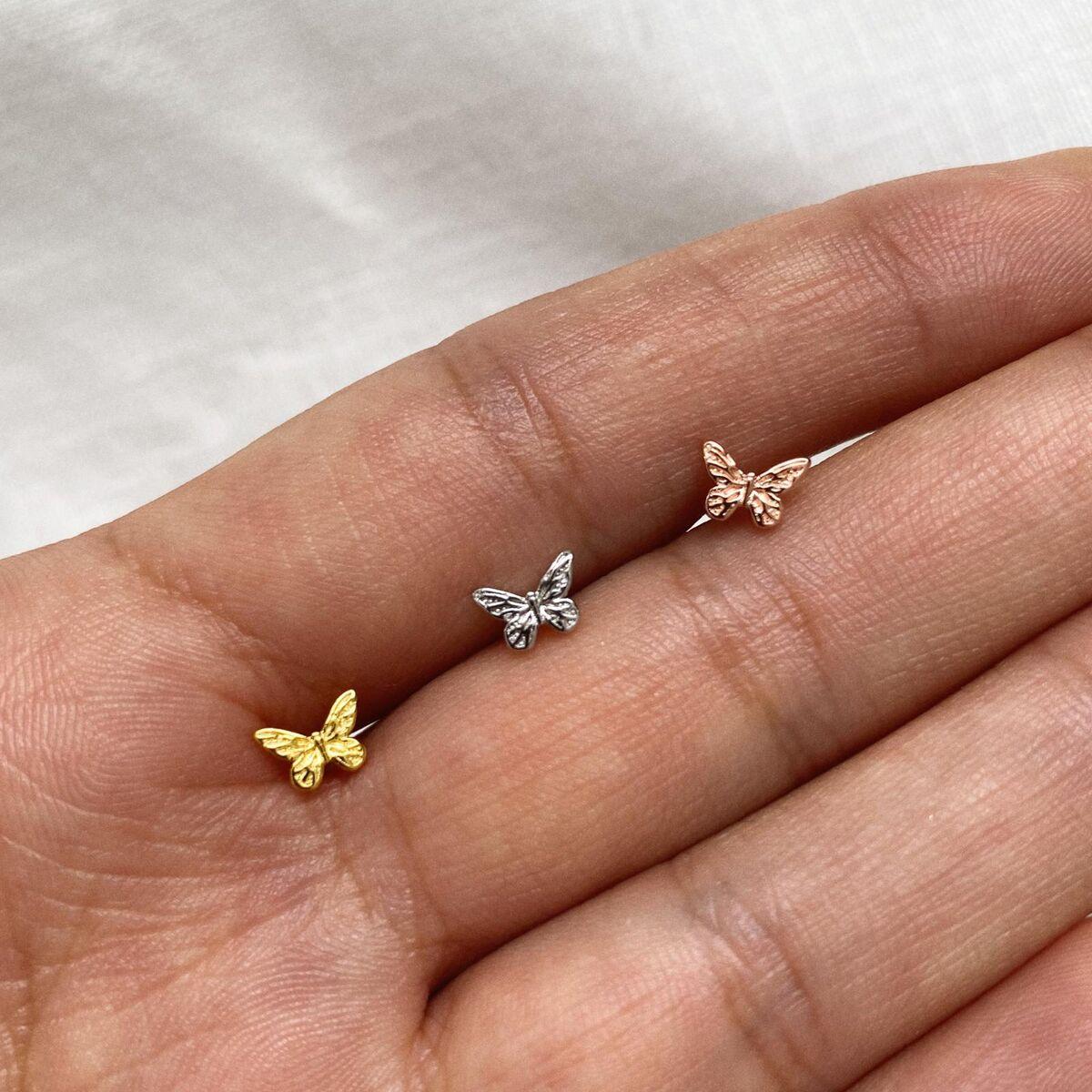 Kelebek Piercing   925 Gümüş