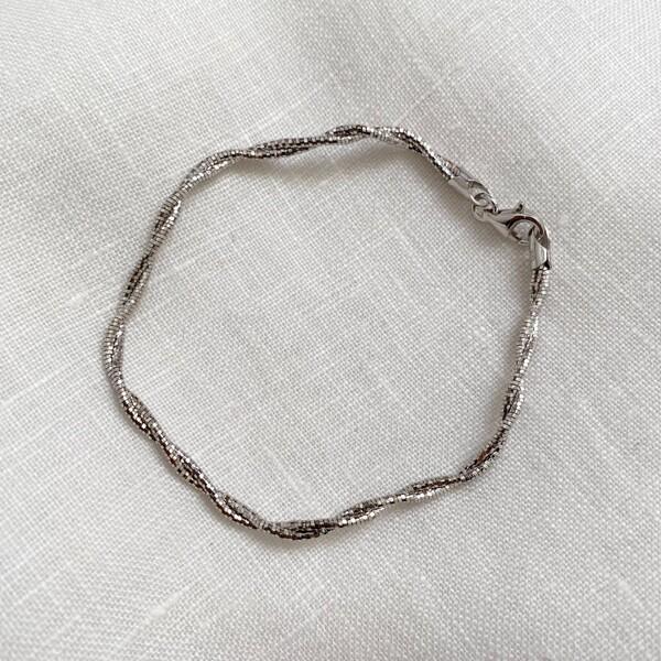 Fi Season - Kıvrımlı Zincir Bileklik | 925 Gümüş