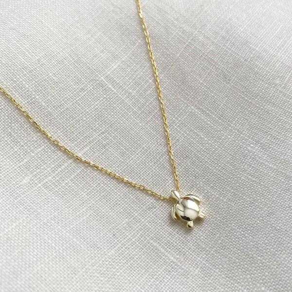 Fi Season - Küçük Kaplumbağa Kolye   925 Gümüş