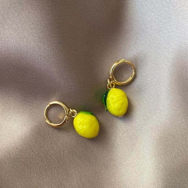 - Limon Figürlü Küpe