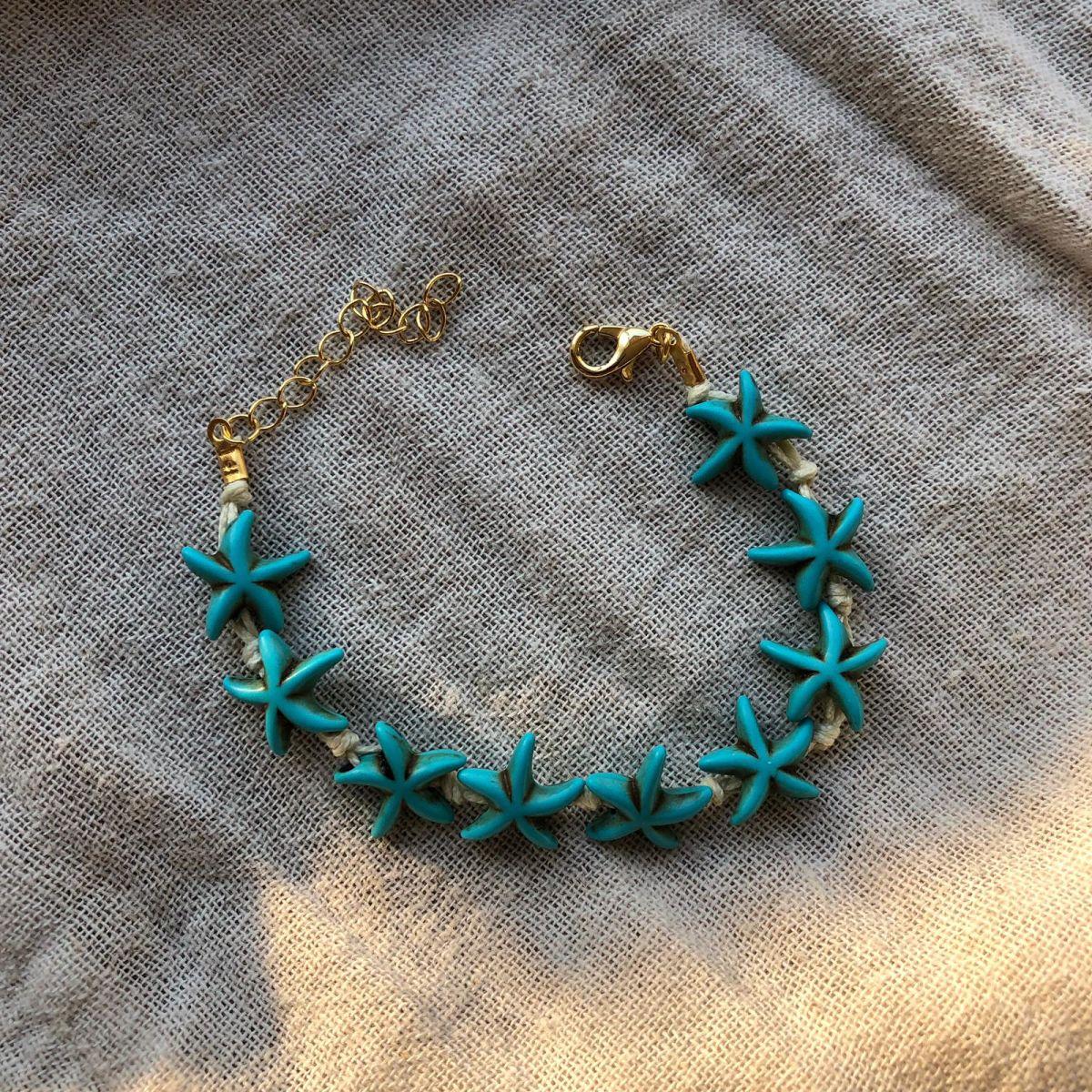 Mavi Deniz Yıldızı Bileklik