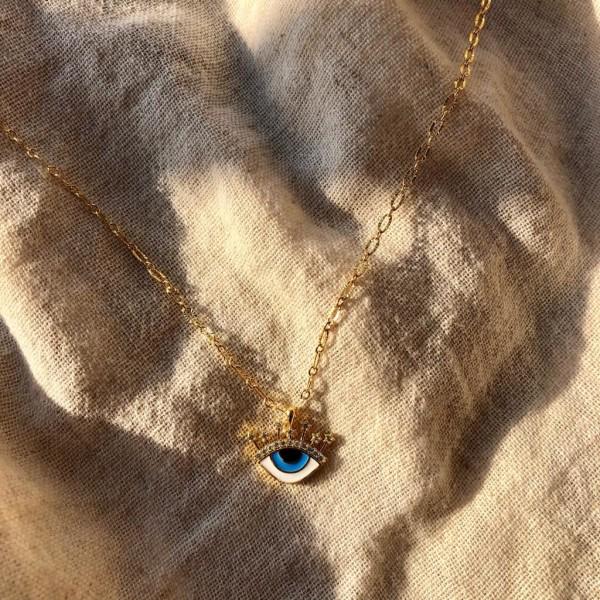 Mavi Göz Kolye - Thumbnail
