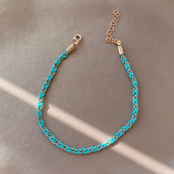 - Mavi İp Halhal | 925 Gümüş