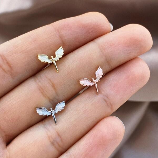 - Melek Figürlü Piercing | 925 Gümüş