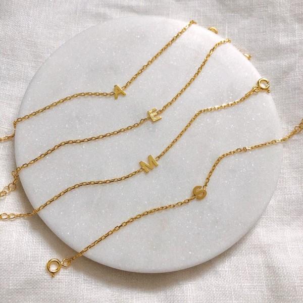 - Minik Harfli Bileklik | 925 Gümüş