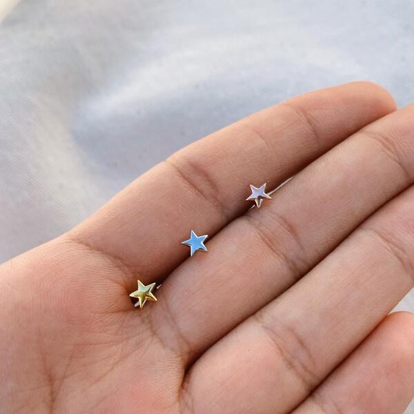 Fi Season - Minik Yıldız Piercing | 925 Gümüş