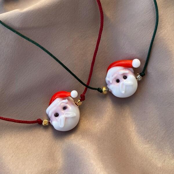 - Noel Baba Figürlü İp Bileklik