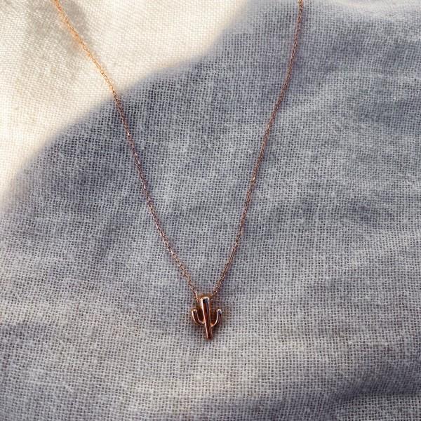 - R Minik Kaktüs Kolye | 925 Gümüş
