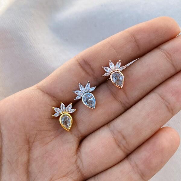 Fi Season - Taşlı Çiçek Piercing