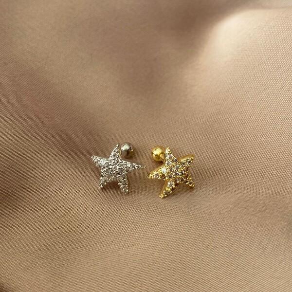 Fi Season - Taşlı Deniz Yıldızı Figürlü Piercing