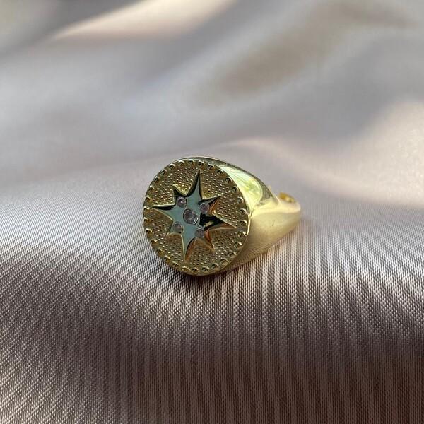 Fi Season - Taşlı Deniz Yıldızı Yüzük | 925 Gümüş