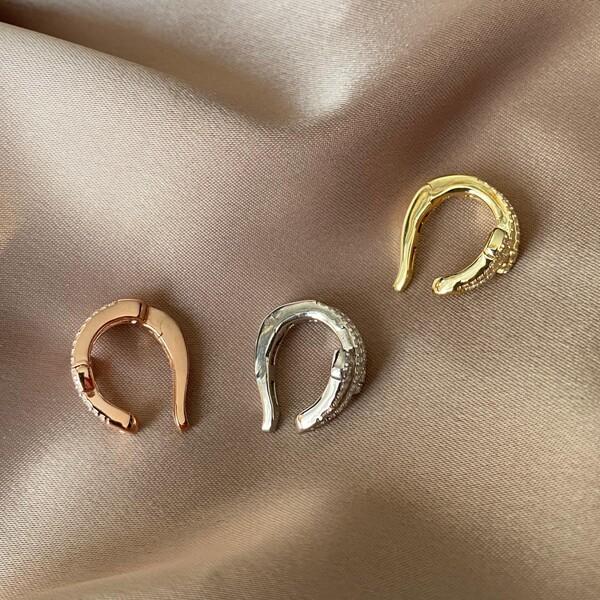 Fi Season - Taşlı Yılan Ear Cuff | 925 Gümüş