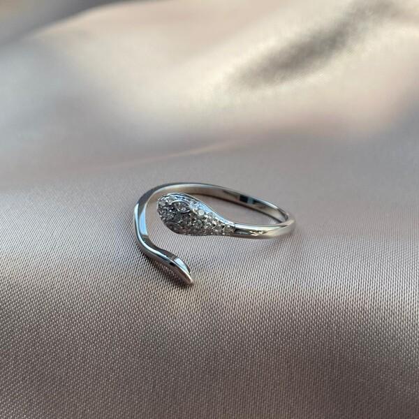 Fi Season - Taşlı Yılan Yüzük | 925 Gümüş