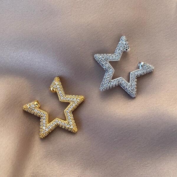 Fi Season - Taşlı Yıldız Figürlü Ear Cuff