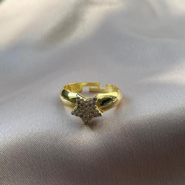 Fi Season - Taşlı Yıldız Yüzük | 925 Gümüş