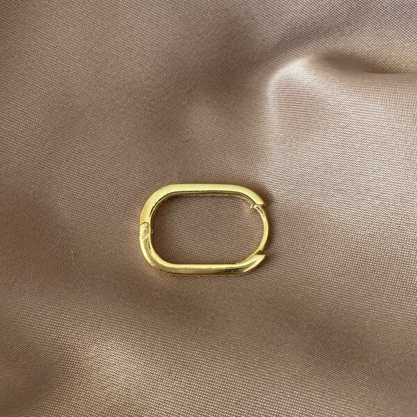 Fi Season - Tekli Pembe Şeritli Dikdörtgen Küpe | 925 Gümüş