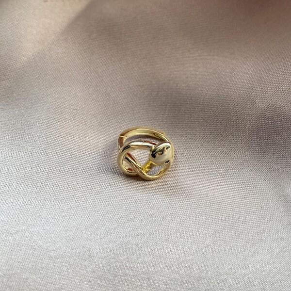 Fi Season - Tekli Sarmal Taşlı Yılan Küpe | 925 Gümüş