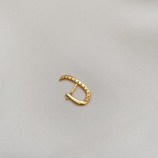 - Tekli Sıralı Taşlı Kulağı Saran Küpe | 925 Gümüş