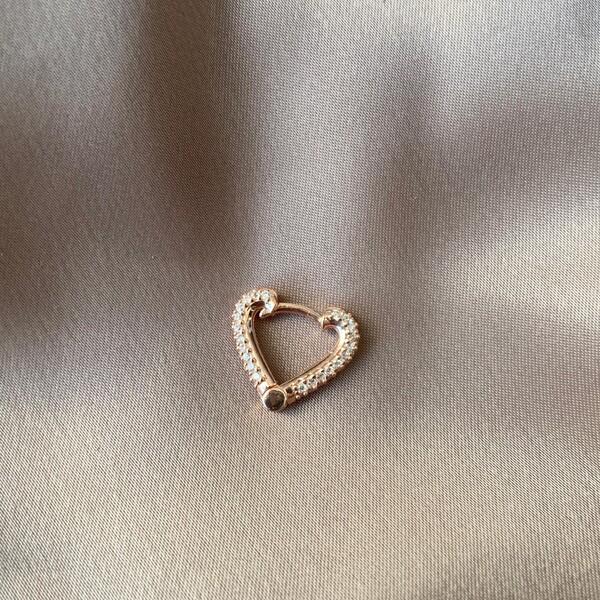 Fi Season - Tekli Taşlı Kalp Küpe | 925 Gümüş