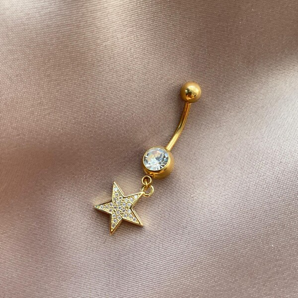 Fi Season - Üzeri Taşlı Yıldız Figürlü Göbek Piercingi