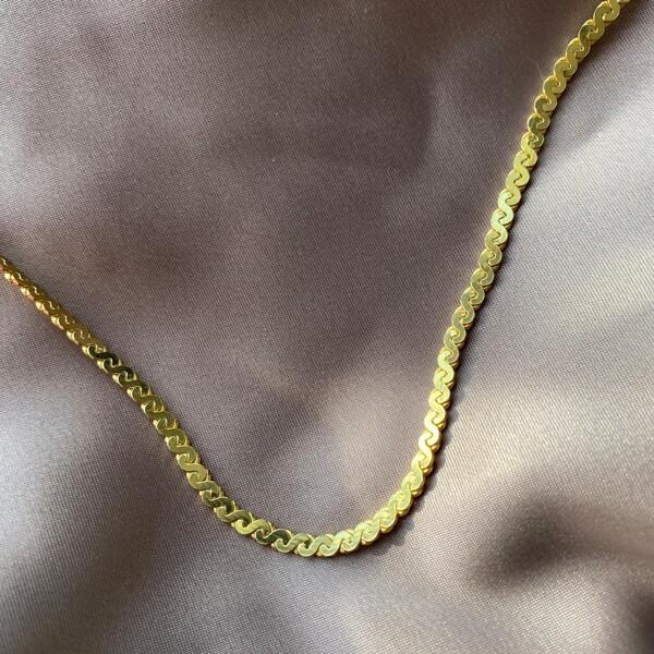Fi Season - Yassı Zincir Kolye   925 Gümüş