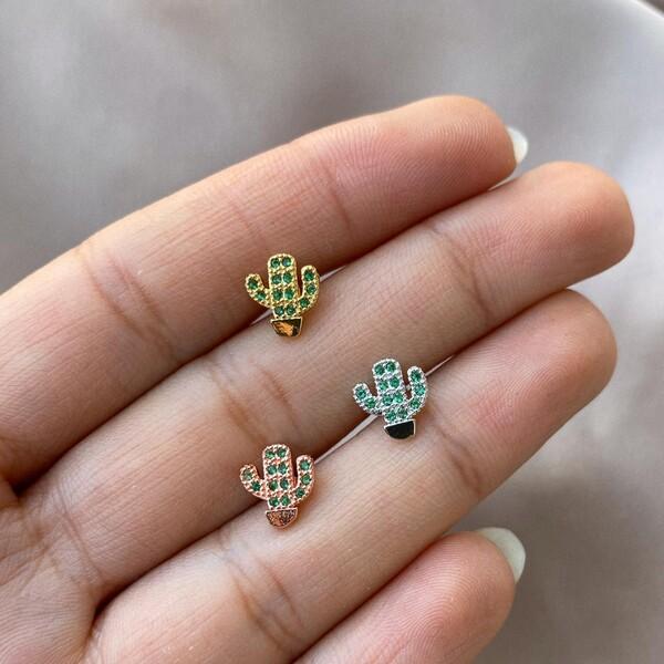 - Yeşil Taşlı Kaktüs Piercing