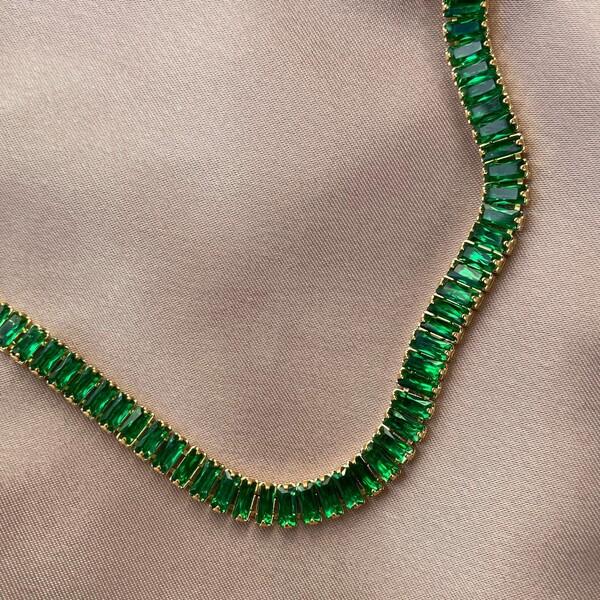 Fi Season - Yeşil Taşlı Kalın Baget Halhal