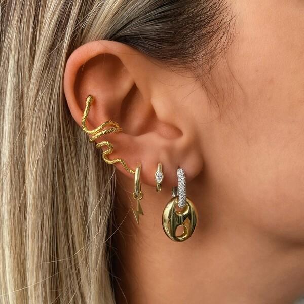 Fi Season - Yılan Figürlü Kulağı Saran Ear Cuff