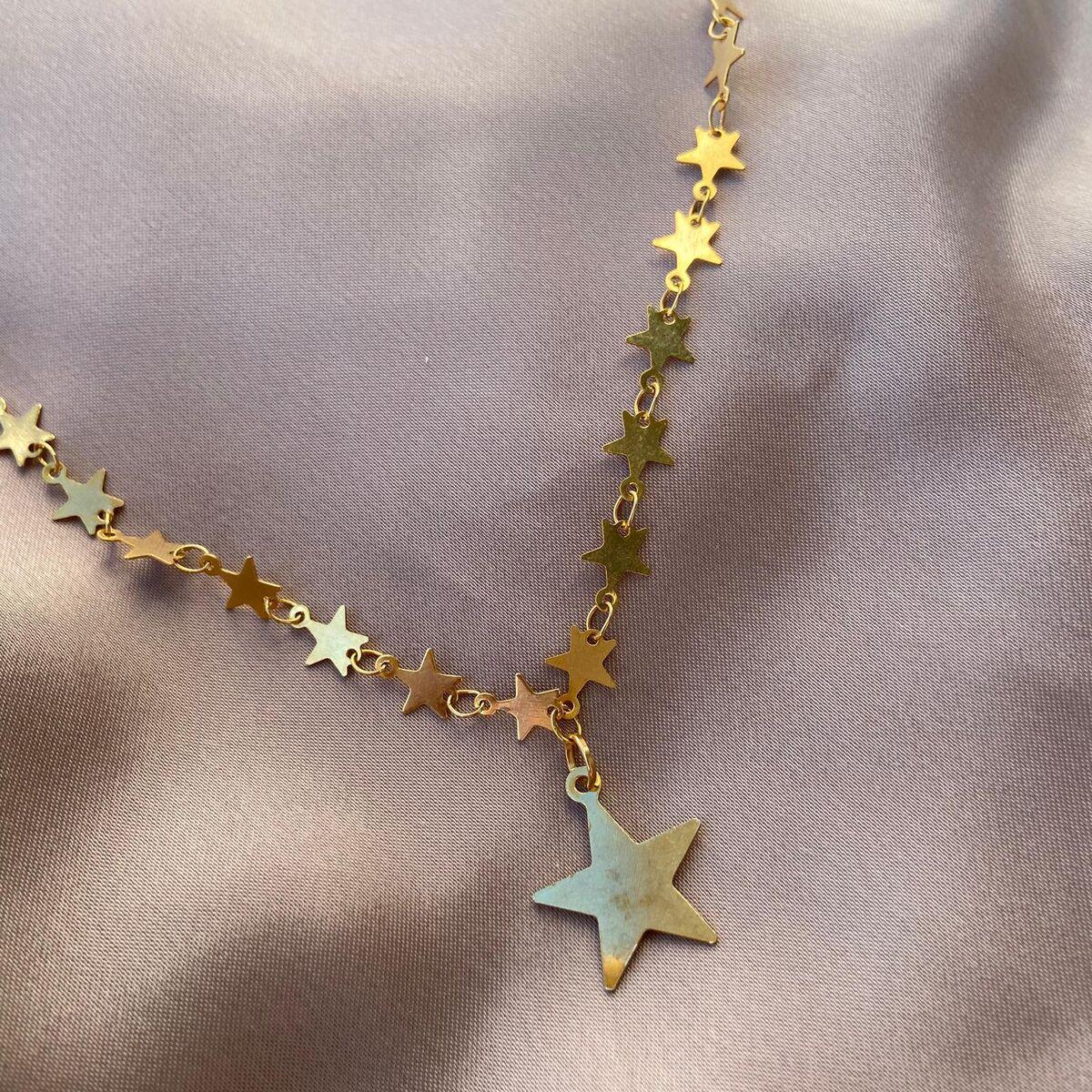 Yıldız Zincirli Yıldız Kolye