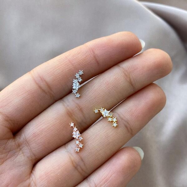 Fi Season - Yıldızlı 6 Taşlı Piercing